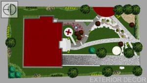 Проект на частен двор