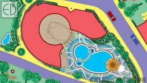 Проект на басейн и градина към спа център