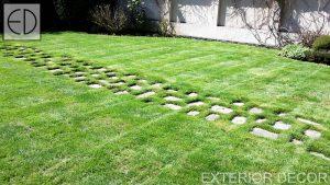 Плочопътека на тревна фуга