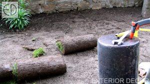 Подготвен терен за полагане на тревен чим